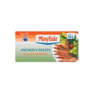 Mayfair Anchovy Fillets In S unflower Oil 50g