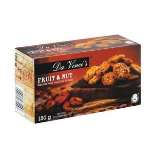 Da Vinci's Fruit And Nut Biscuits 150g