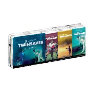 Twinsaver Tissues Mens Pocket Packs 10ea x 10
