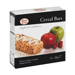 Simply Cereal Apple And Cranberry 6ea